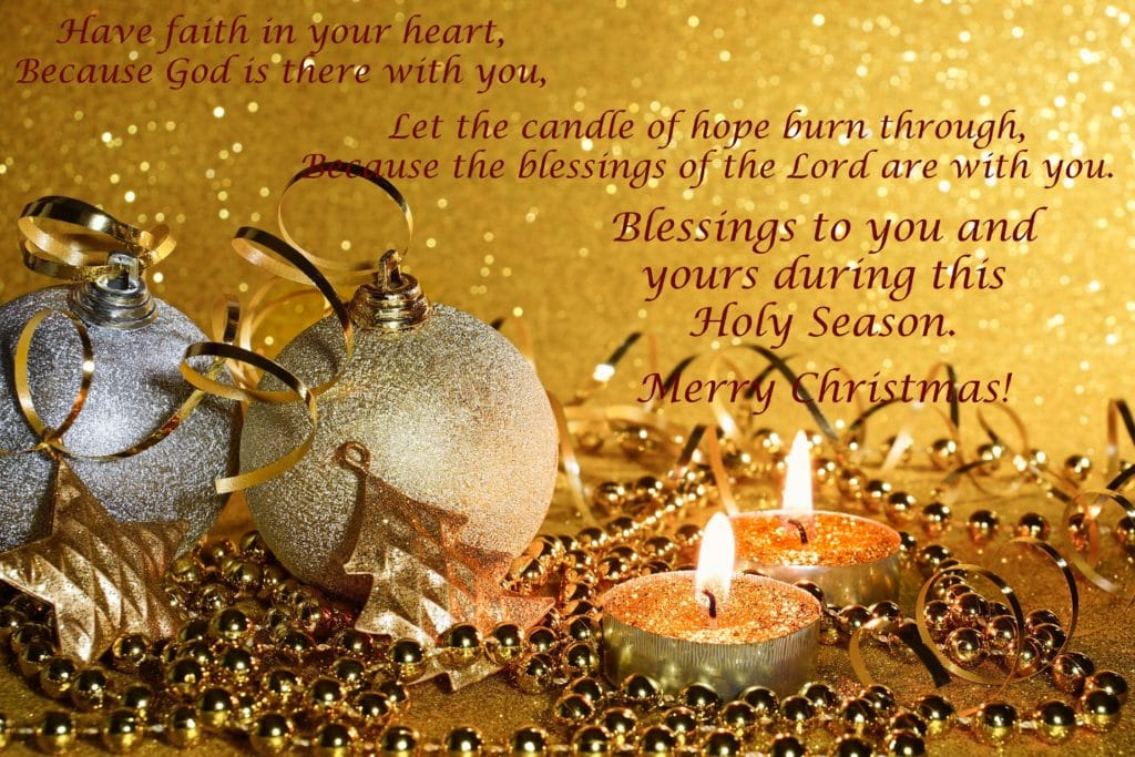 Candle of Hope Christmas Blessing 2